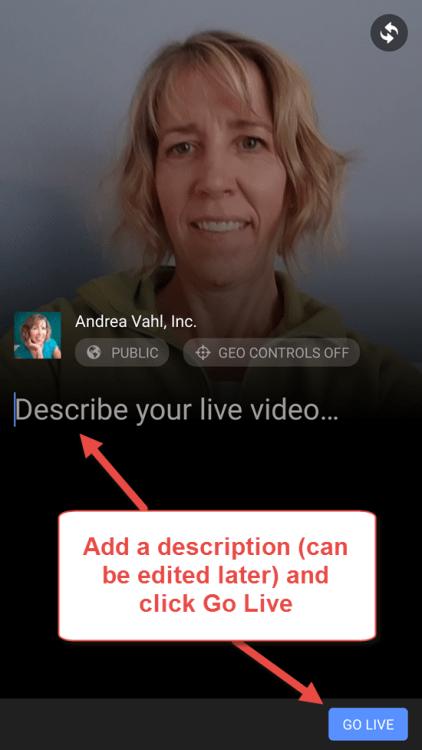 Add a Description to Facebook Live video