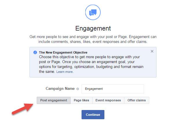 Facebook Engagement Ads