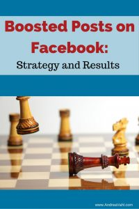 Boosted Posts on Facebook: Strategy and Results