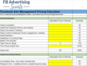 Facebook Ads Management Pricing Calculator