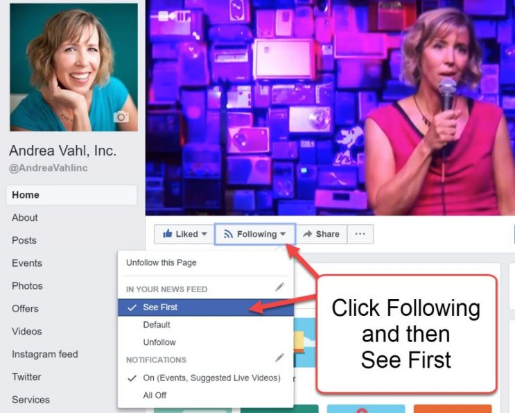 See First for Facebook Pages