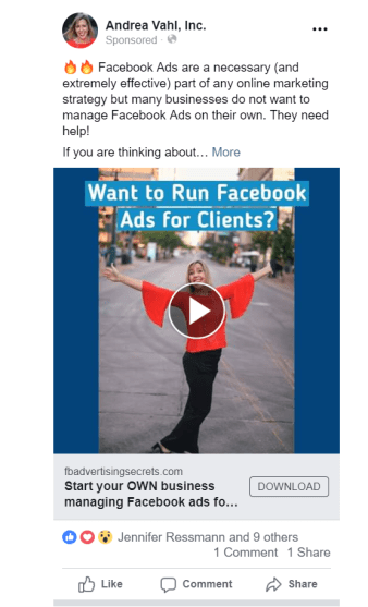 Facebook Video ad with still images