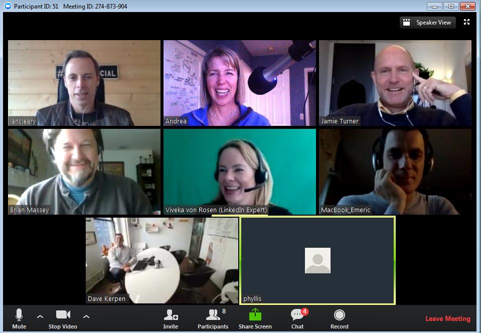 Zoom speaker chat