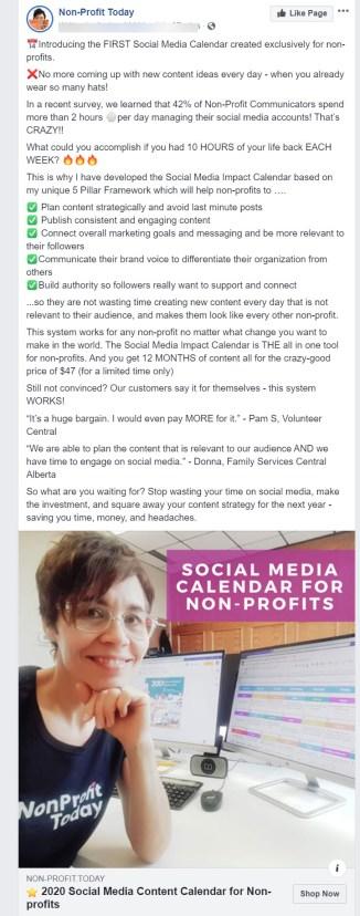 Non-profit today ad