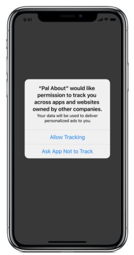Apple iOS Tracking popup