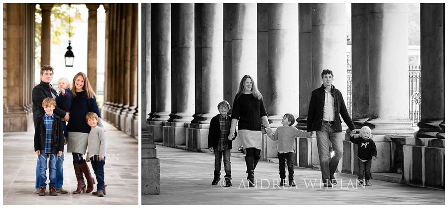Family photos in Greenwich Park