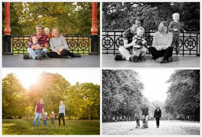 Twin Family photo session in Greenwich Park