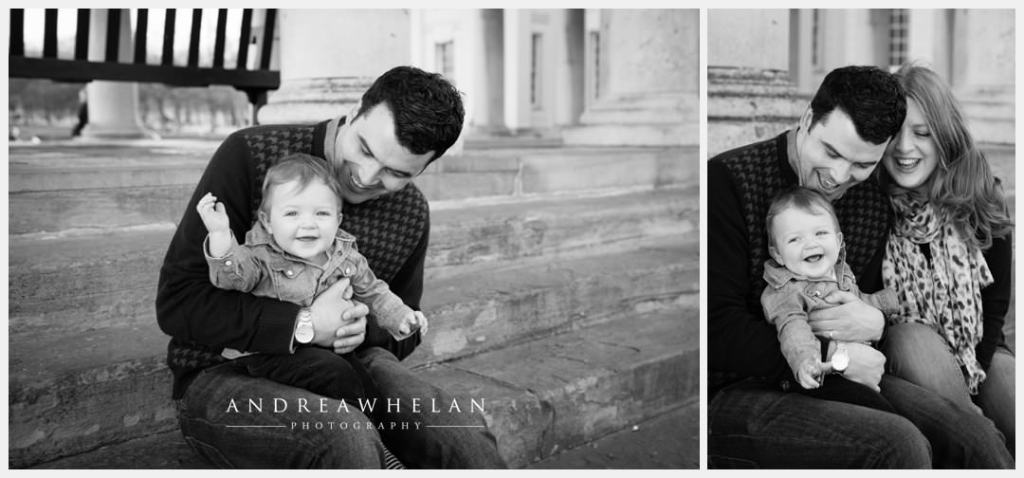 Dad and baby photo session London