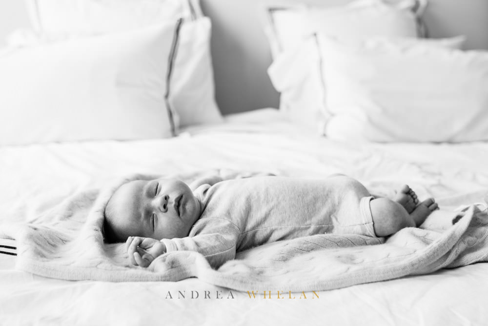 black and white newborn photo session