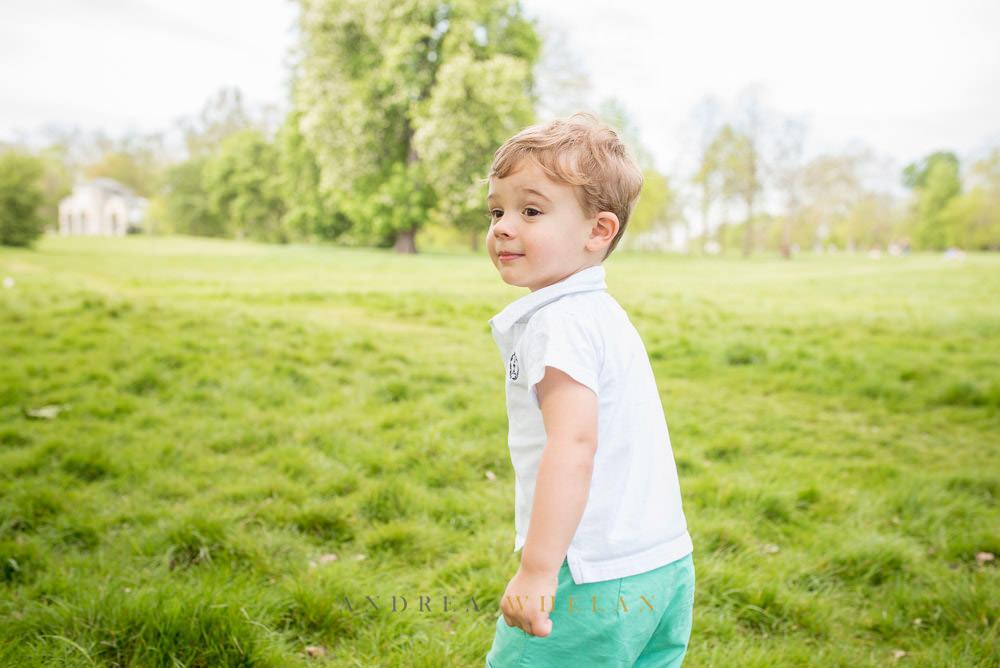 Little boy in park