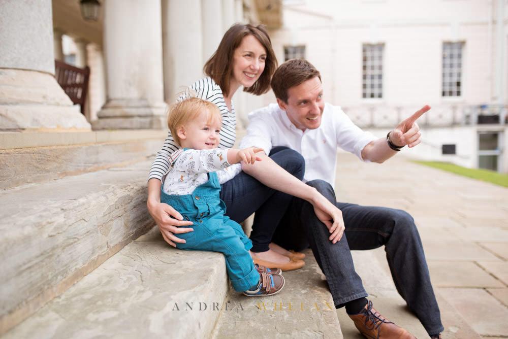 mum dad and baby photo