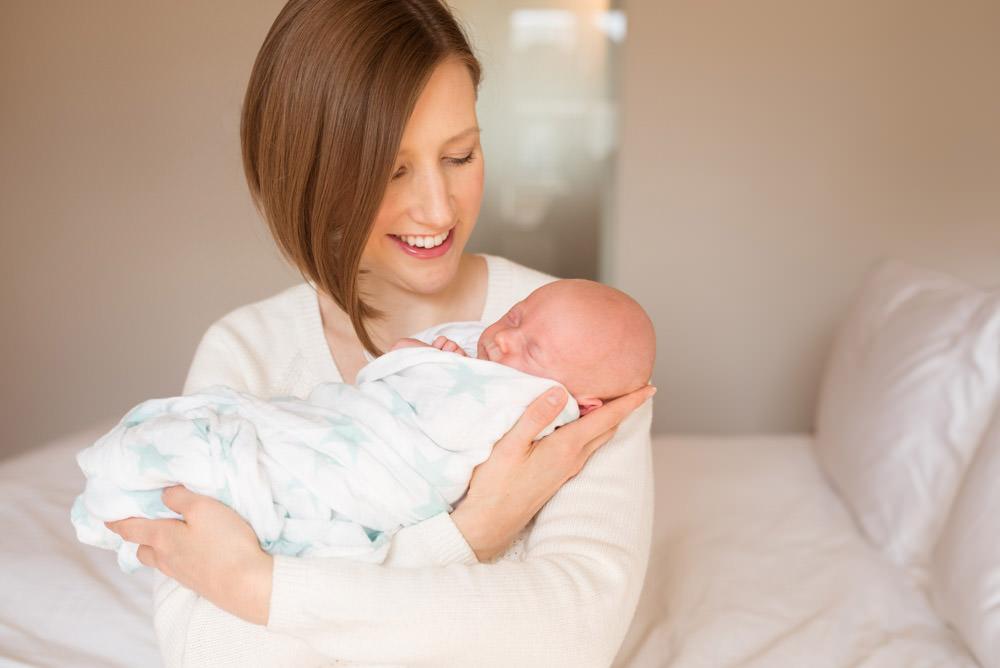New mum and tiny baby