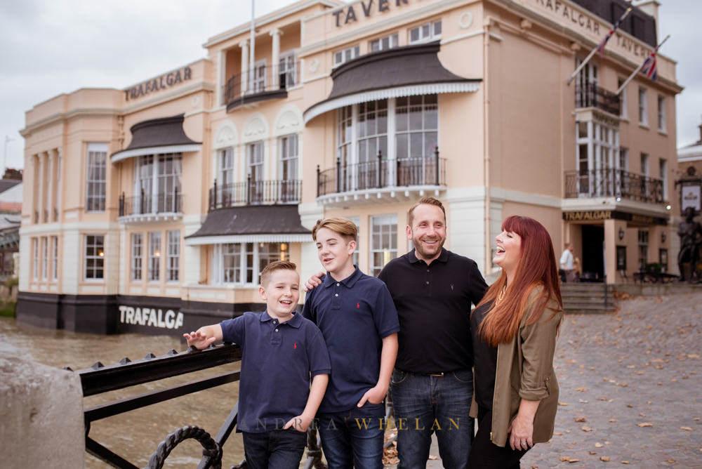 Family photo Trafalgar tavern greenwich