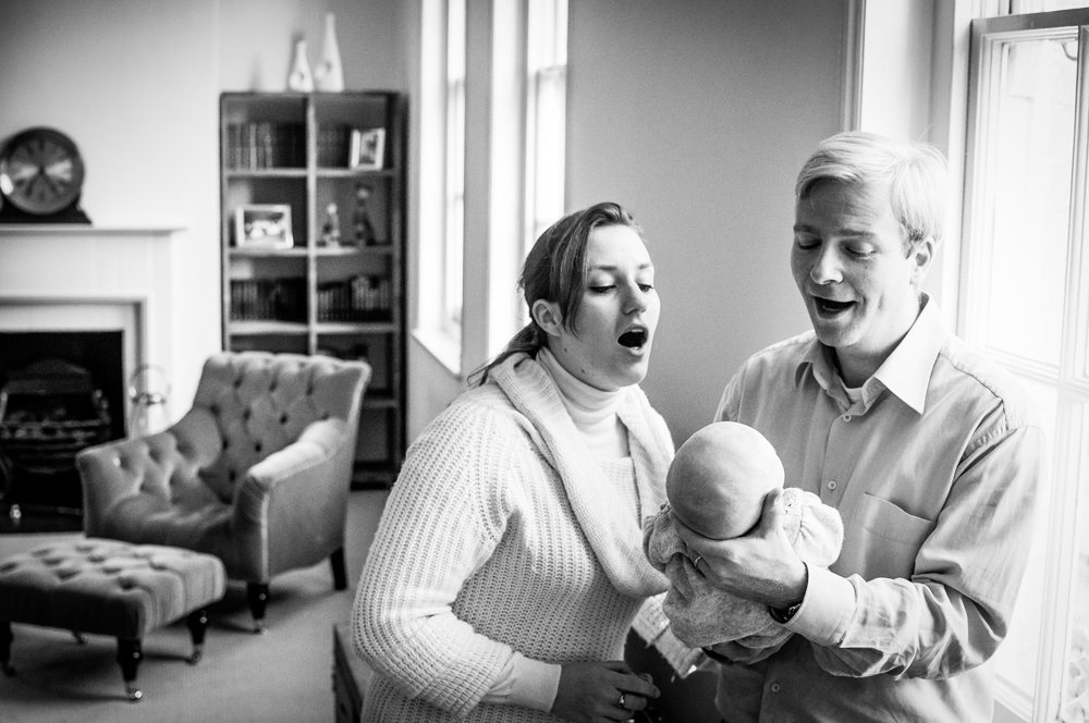 using expression in family photos