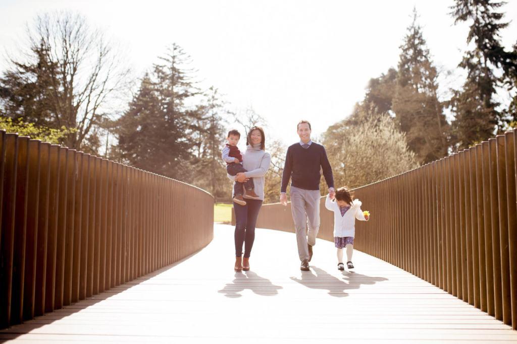 colourful family portrait London