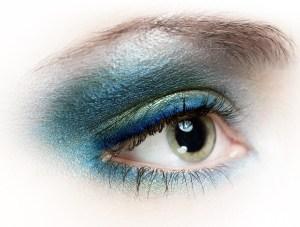 Augenmakeup close up