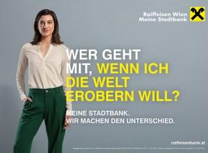 Raiffeisen Werbeplakat Make up und Hairstyling Andrea Zeilinger Wien