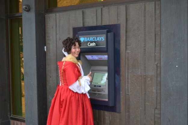 The Seventeenth Century Lady on a 21st Century High Street!
