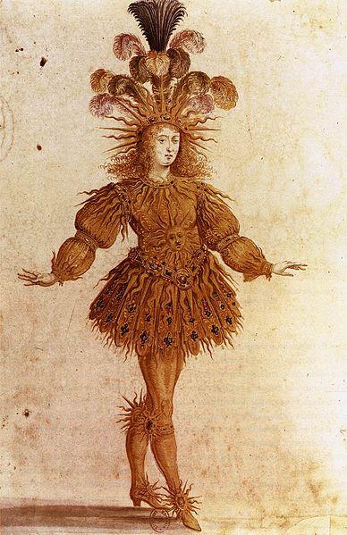 Louis XIV as the Sun in Le Ballet de la Nuit by Henri Gissey, 1653. Bibliothèque nationale de France.