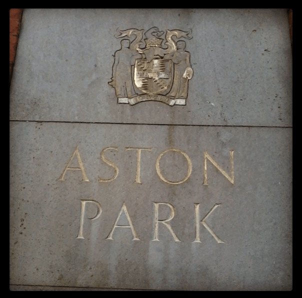 Aston Park entrance. Instagram photo by Andrea Zuvich