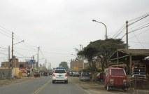 Очень типичный для Перу придорожный городок.