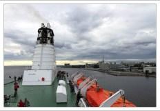 Паром Princess Anastasia отплывает из морского порта Санкт-Петербурга.