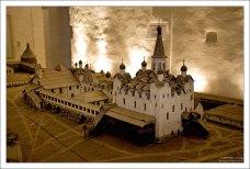 Макет монастыря в ризнице.
