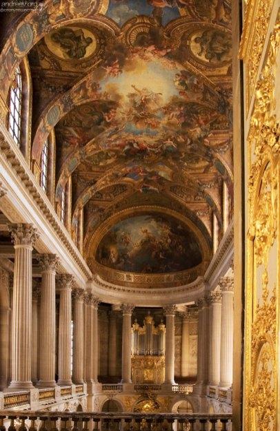 Расписной потолок в дворцовой часовне.