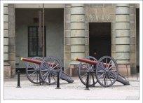 Полевые пушки во внутреннем дворе Королевского дворца.