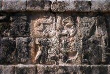 Барельефы на стенах Храма Войнов. Чичен-Ица.