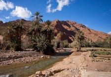 Шустрая речка под дорогой, ведущей в каньон Dades.