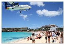 Пляж Maho полностью лишён растительности, так как регулярно подвергается воздействию сильных потоков воздуха от авиалайнеров.