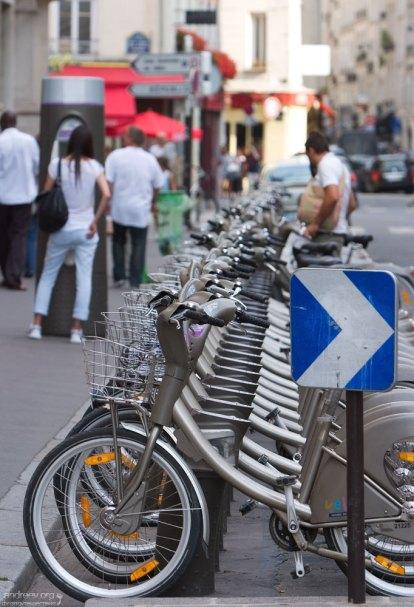 Система аренды велосипедов Vélib'.