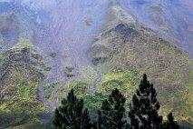 Насыпи на склонах вулкана Аренал.