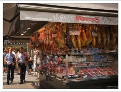 Мясные ряды на рынке Бокерия.