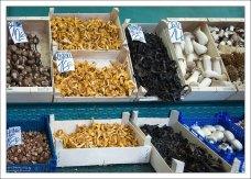 Грибное изобилие на рынке Бокерия.
