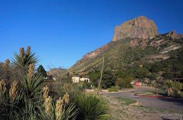 Единственная в парке гостиница у подножия скалы Casa Grande.