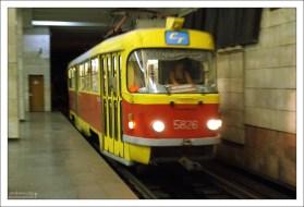 Волгоградский Метротрам - частично проходит под землей.
