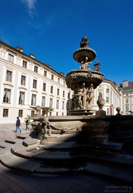 Леопольдов фонтан (Кохлов), 17-й век, во Втором дворе Града.