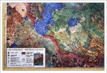 Панно размером 5910 х 4500 мм представляет собой точную географическую карту СССР масштаба 1:1 500 000. НИИ им. А. П. Карпинского.