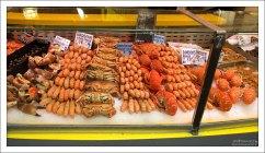 Морская живность на городском рынке Руана.