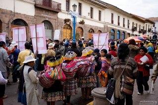 В демонстрации принимали участие и сельские жители.