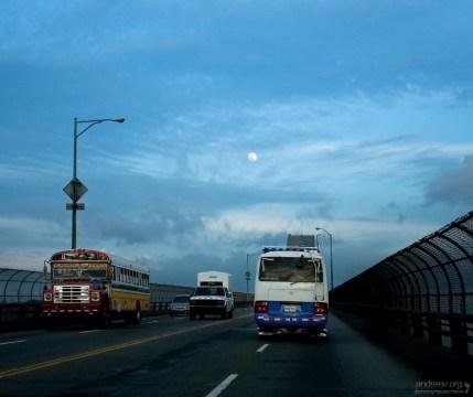 Платное шоссе-мост через Панама-сити.