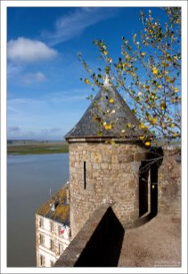 L'Echauguette de la Pilette - малая ступенчатая башня на западной стене аббатства.