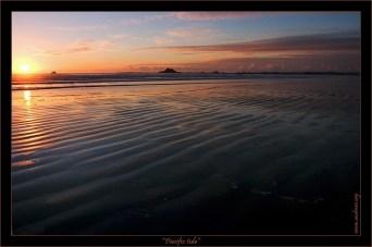 """""""Отлив на Тихом"""" Успокоившийся к вечеру Тихий океан в районе деревушки Crescent City. В такое время по отливу можно бродить долго-долго, пугая крабиков, и смотреть как собственные следы постепенно заполняются водой…"""