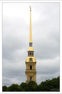 Шпиль Петропавловского собора.