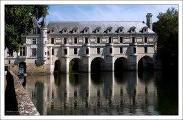 Château de Chenonceau на воде.