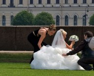 Невеста перед фотосессией.