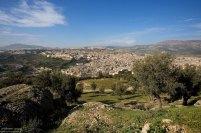 Оливковые деревья и вид на медину с высоты смотровой площадки крепости Borj Sud.