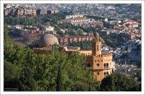 Город с высоты Алькасабы - цитадели Альгамбры.